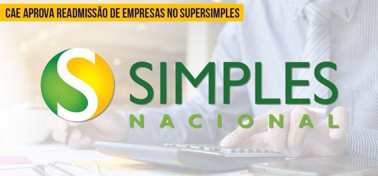 Readmissão de empresas no Simples Nacional é aprovada pelo CAE